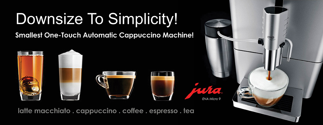 Downsize to Simplicity - Smallest One-Touch Automatic Cappuccino Machine! Jura