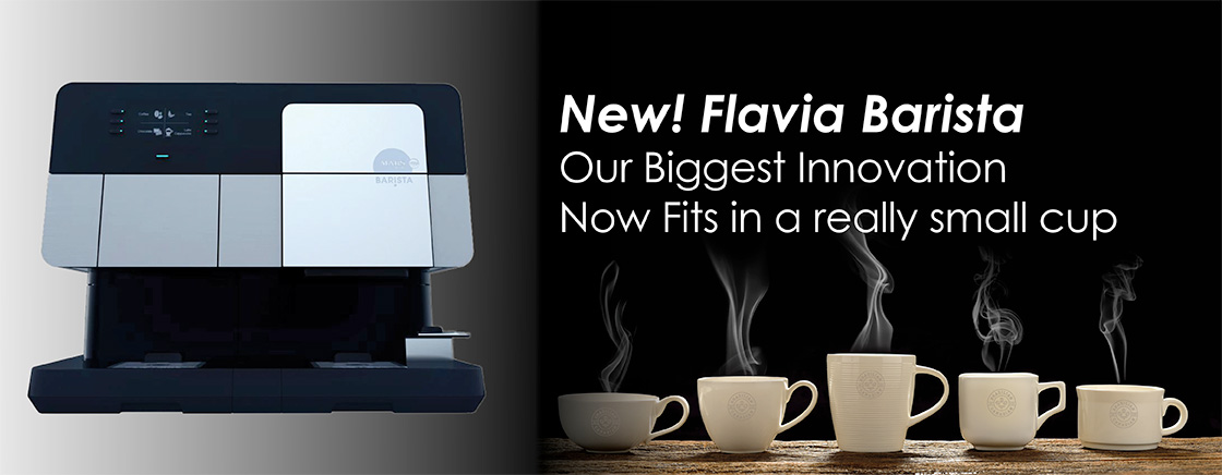 New! Flavia Barista - Our Biggest Innovation Now Fits in a really small cup
