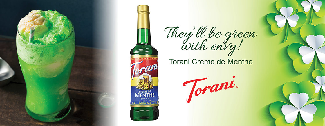 They will be green with envy - Torani Creme de Menthe